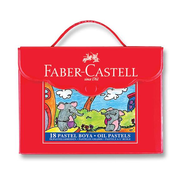 Faber Castell Pastel Boya Plastik Çantalı 18 Renk 125119