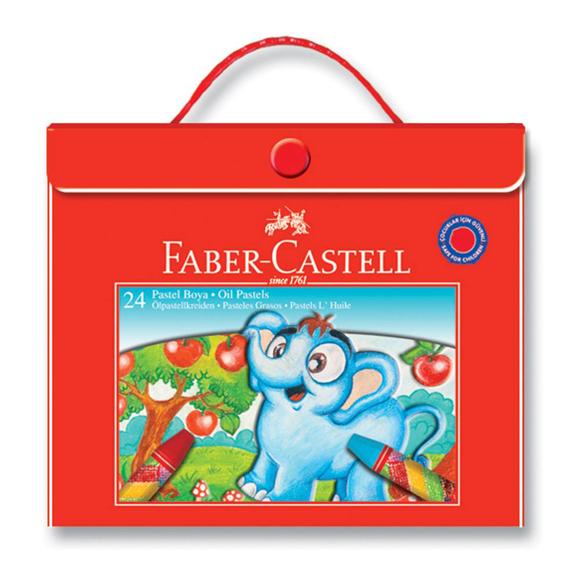 Faber Castell Pastel Boya Plastik Çantalı 24 Renk
