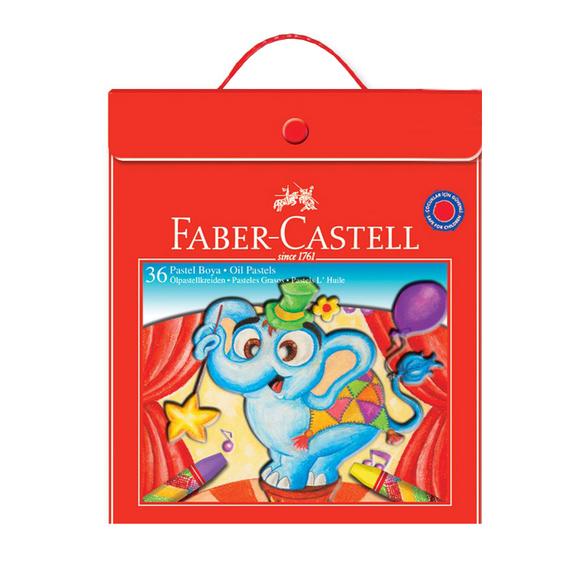 Faber Castell Pastel Boya Plastik Çantalı 36 Renk