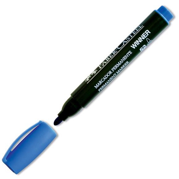 Faber Castell Permanent Markör 52 Yuvarlak Uç Mavi