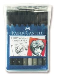 Faber Castell Pitt Artist Pen Manga Seti 8'li 167107 - Thumbnail
