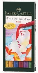 Faber Castell Pitt Çizim Kalemi Fırça Uç Ana Renkler 6'lı 167103 - Thumbnail
