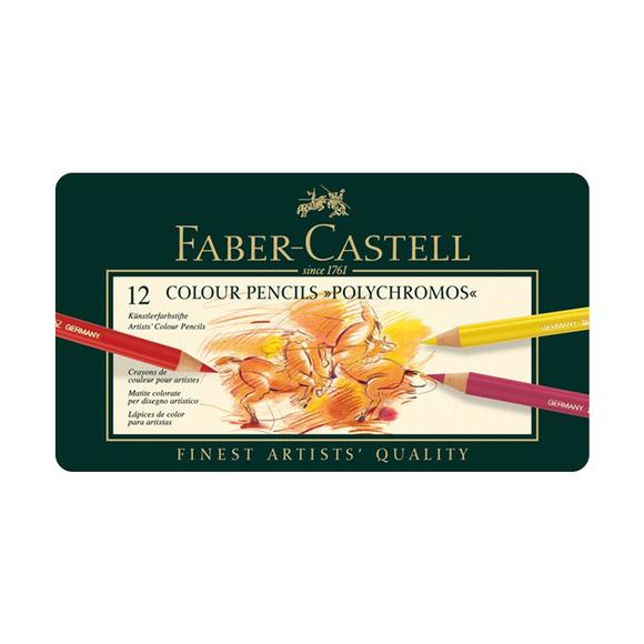 Faber Castell Polychromos Boya Kalemi 12 Renk 110012