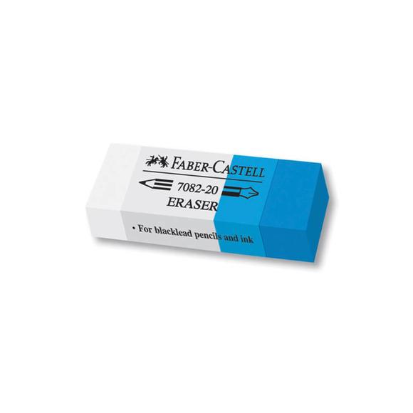 Faber Castell Silgi Mavi-Beyaz 7082/20