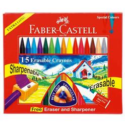 Faber Castell Silinebilir Mum Boya 15 Renk 122715 - Thumbnail