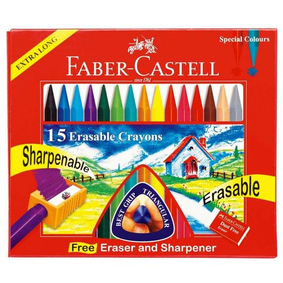 Faber Castell Silinebilir Mum Boya 15 Renk 122715