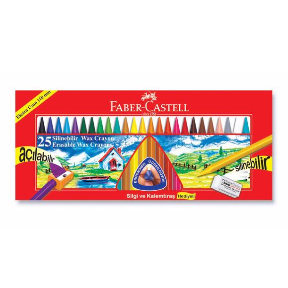 Faber Castell Silinebilir Mum Boya 25 Renk