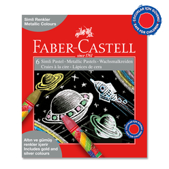 Faber Castell Simli Pastel Boya 6 Renk 125406 - Thumbnail