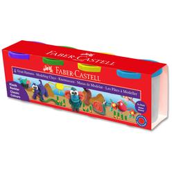 Faber Castell Su Bazlı Oyun Hamuru 4 Renk 120042 - Thumbnail