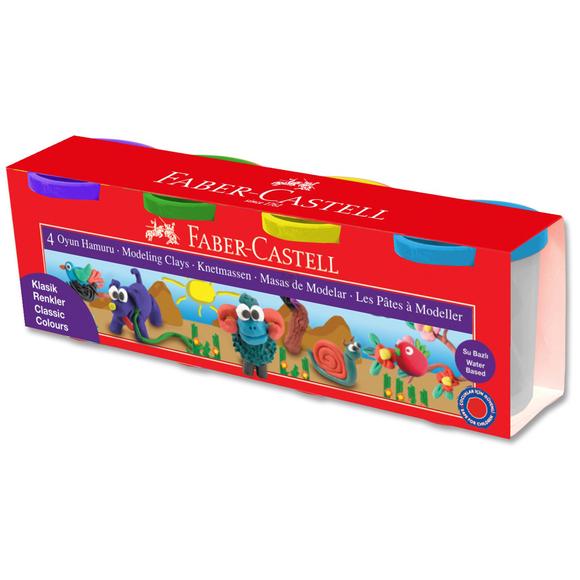 Faber Castell Su Bazlı Oyun Hamuru 4 Renk 120042
