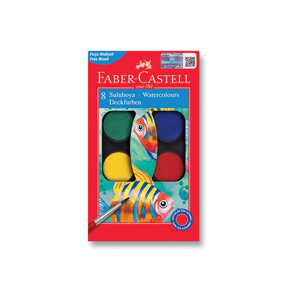 Faber Castell Suluboya 8 Renkli Küçük Boy 125008
