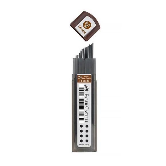 Faber Castell Süper Fine Min 0.5 mm 2B 24'lü Tüp 127820