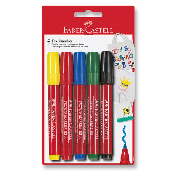 Faber Castell T-Shirt Markörü 5 Renk