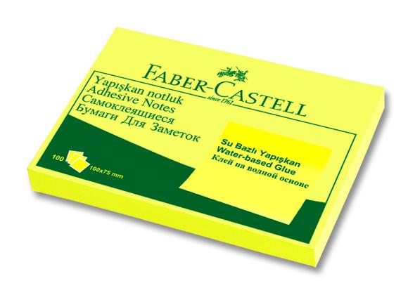 Faber Castell Yapışkan Notluk 100x75mm 100 Sayfa Sarı