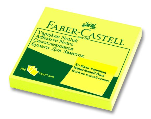 Faber Castell Yapışkan Notluk 75x75mm 100 Sayfa Sarı