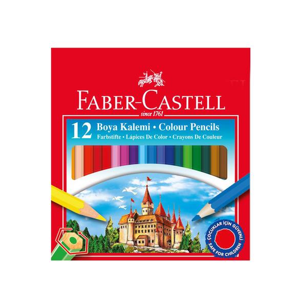 Faber Castell Yarım Boy Kuru Boya Karton Kutu 12 Renk