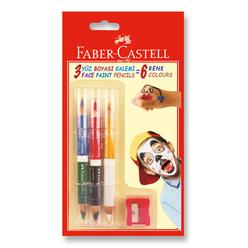 Faber Castell Yüz Boyası Kalemi 6 Renk - Thumbnail