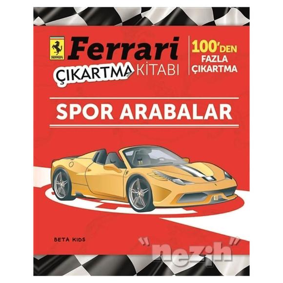 Ferrari Çıkartma Kitabı: Spor Arabalar