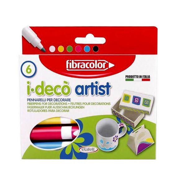 Fibracolor Ideco Artist Dekorasyon Kalemi 6 Renk 10640