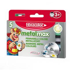 Fibracolor Metal Max Metalik Keçeli Kalem 5 Renk 10580 - Thumbnail