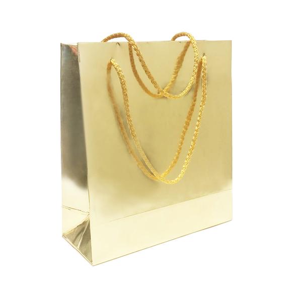 Fresia Karton Poşet Metalize Altın Parlak 20x22 cm