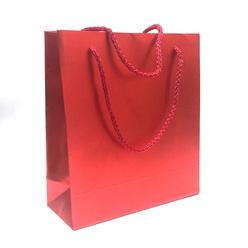 Fresia Karton Poşet Metalize Kırmızı Mat 20x22 cm - Thumbnail
