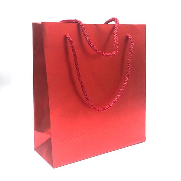 Fresia Karton Poşet Metalize Kırmızı Mat 20x22 cm