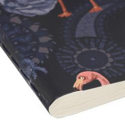 Fulique Flamingo Küçük Noktalı Defter 13x21cm - Thumbnail