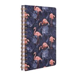 Fulique Flamingo Spiralli Noktalı Defter 14.8x21cm - Thumbnail