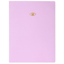 Fulique Pastel Lila Noktalı Defter 19x25 cm - Thumbnail