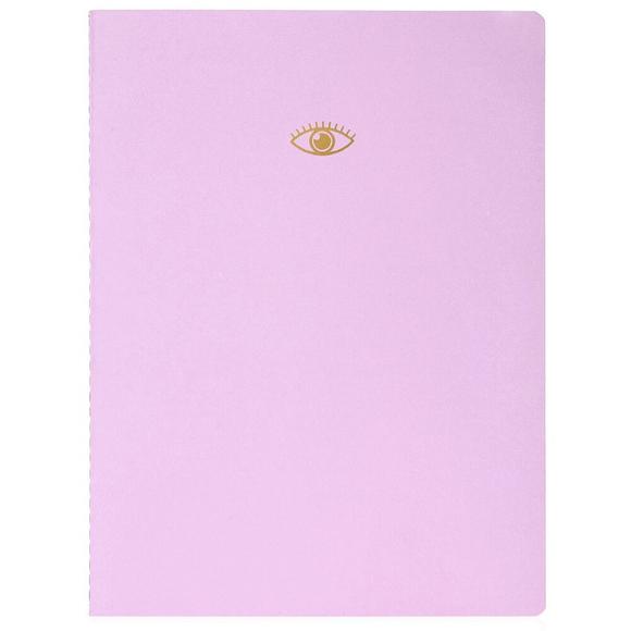 Fulique Pastel Lila Noktalı Defter 19x25 cm