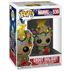 Funko Pop Marvel Holiday : Groot Le Figür 43333 - Thumbnail