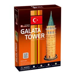 Galata Kulesi 17 Parça 3D Puzzle C098H - Thumbnail