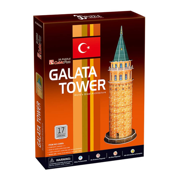 Galata Kulesi 17 Parça 3D Puzzle C098H
