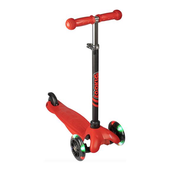 Gokidy Mini 3 Tekerli Işıklı Scooter Kırmızı
