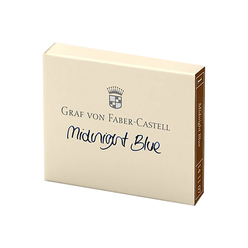Graf Von Faber Castell Dolma Kalem Kartuşu 6'lı Gece Mavisi 141107 - Thumbnail