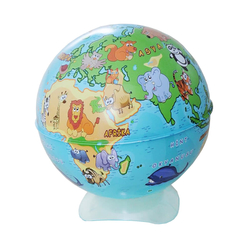 Gürbüz Globe Kalemtıraş Hayvanlı Küre 10 cm 43104 - Thumbnail