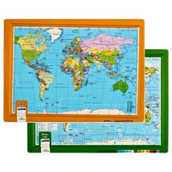 Gürbüz Kabartma Dünya Atlası A4 26003 - Thumbnail