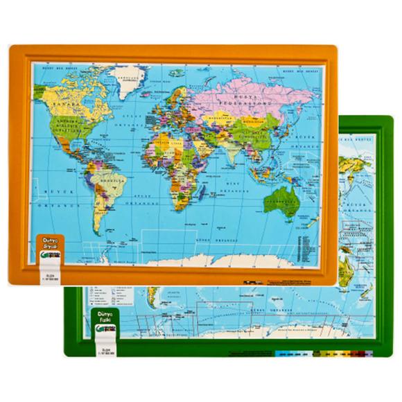Gürbüz Kabartma Dünya Atlası A4 26003
