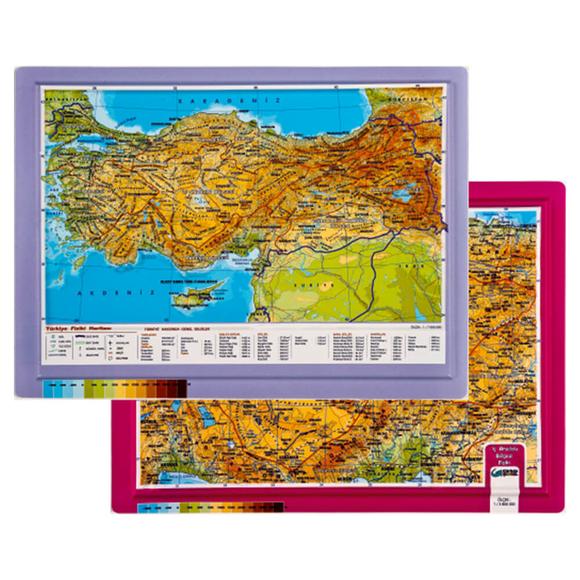 Gürbüz Kabartma Türkiye Atlası A4 25003