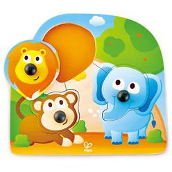 Hape Koca Burunlu Hayvanlar Yapboz E1310 - Thumbnail