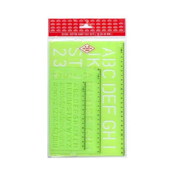 Hatas Büyük Harf Yazı Seti 3'lü Takım 02260