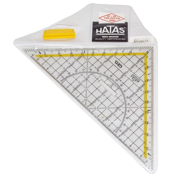 Hatas Geometrik Açılı Gönye 25 Cm 0510
