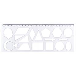 Hatas Geometrik Şekiller Şablonu 25 cm 02285 - Thumbnail