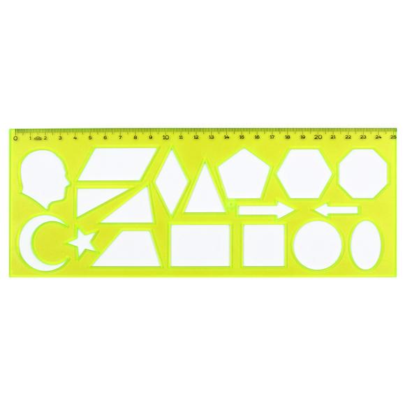 Hatas Geometrik Şekiller Şablonu 25 cm 02285