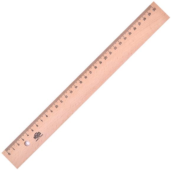 Hatas Tahta Cetvel (Takviyeli) 30 cm 0042