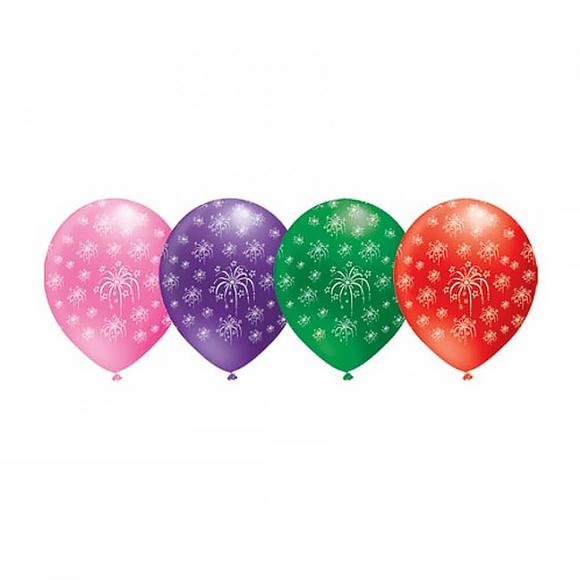 Havai Fişek Baskılı Balon 14'lü