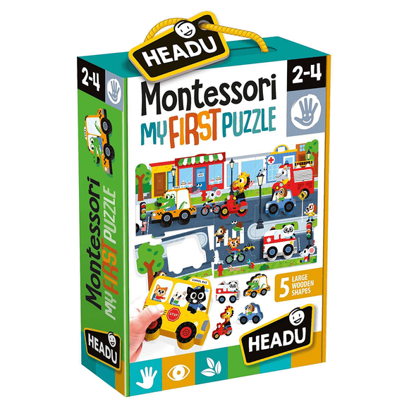 Headu Puzzle Montessori My First (2-4 Yaş) IT-22373