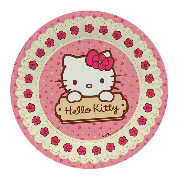 Hello Kitty Tabak 23 cm 8'li