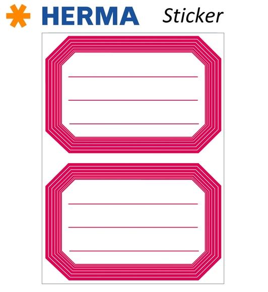 Herma 12 Adet Okul Etiketi 82x55 mm 5712